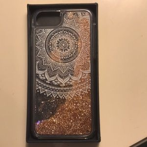Floating glitter iPhone 7/6s case. New with box